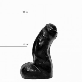 Фаллоимитатор с полузакрытой головкой - 17 см.