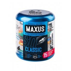 Классические презервативы в металлическом кейсе MAXUS Classic - 15 шт.